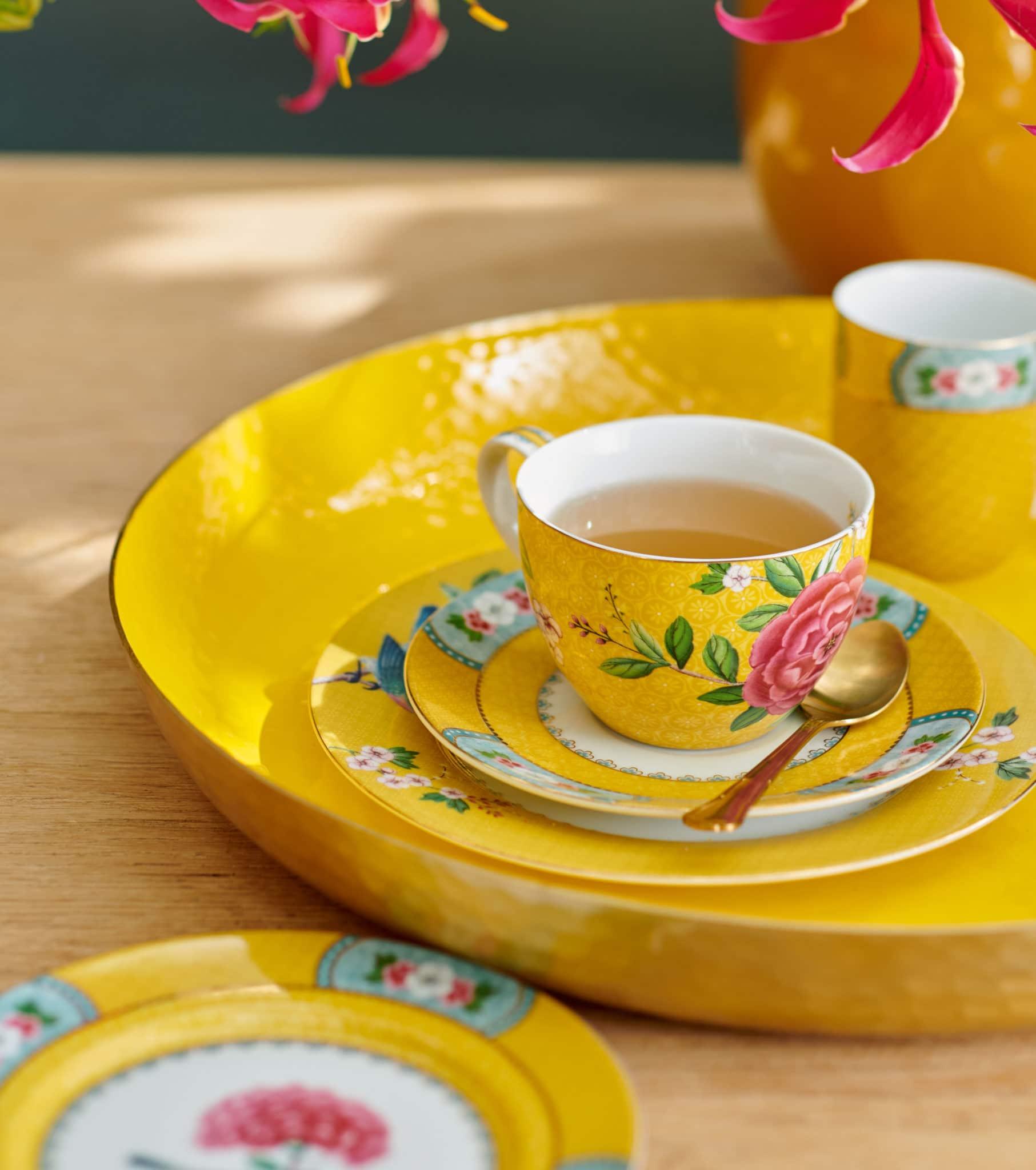Pip porselen Blushing birds gul fra Pip