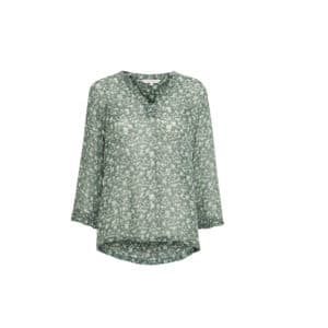 mini flower print green bittapw blouse kopi